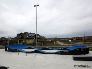 Modular pumptrack near skatepark in Bilcza
