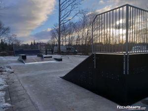 Modułowy skatepark w Warszawie Bemowo