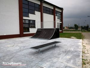 New skatepark made of wood
