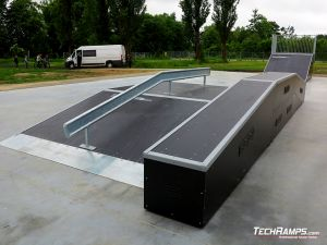 Nowo wybudowany skatepark w Nowym Mieście nad Pilicą