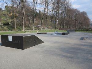 Przeszkody w skateparku w Krościenku nad Dunajcem