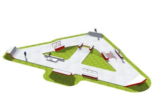 Przykładowy betonowy skatepark - 370213