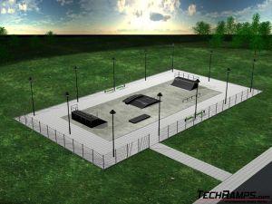 Przykładowy skatepark