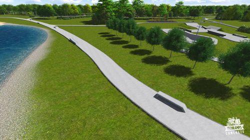 Przykładowy skatepark betonowy nr 050415