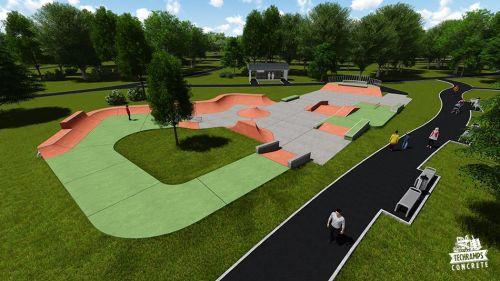 Przykładowy skatepark betonowy nr 081514