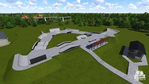 Przykładowy skatepark betonowy nr 091515