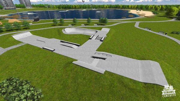 Przykładowy skatepark betonowy nr 092013