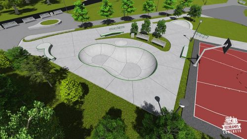 Przykładowy skatepark betonowy nr 101515