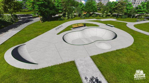 Przykładowy skatepark betonowy nr 112015