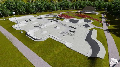 Przykładowy skatepark betonowy nr 143695