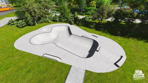 Przykładowy skatepark betonowy nr 390113