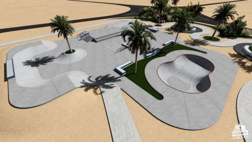 Przykładowy skatepark betonowy nr 545857