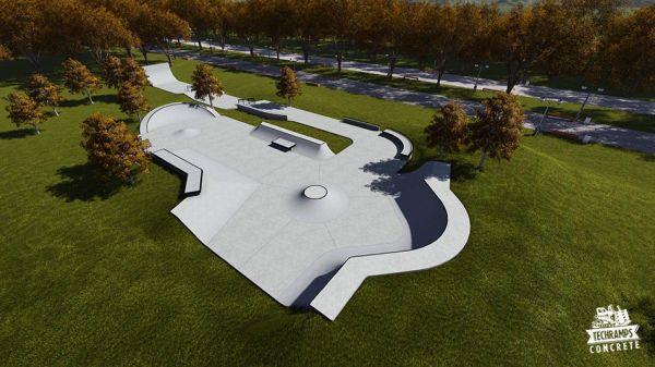 Przykładowy skatepark betonowy nr 652515