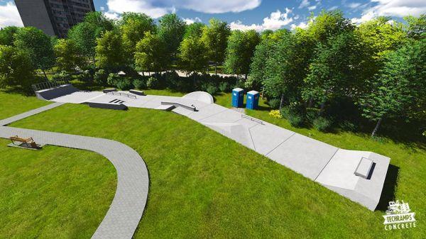 Przykładowy skatepark betonowy nr 750315