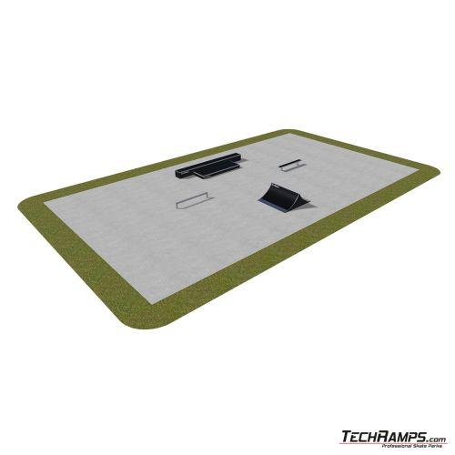 Przykładowy skatepark modułowy nr 390115