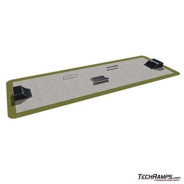 Przykładowy skatepark modułowy nr 410115