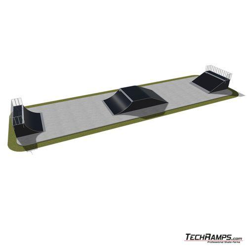 Przykładowy skatepark modułowy nr 420115