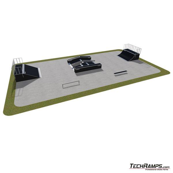 Przykładowy skatepark modułowy nr 440115