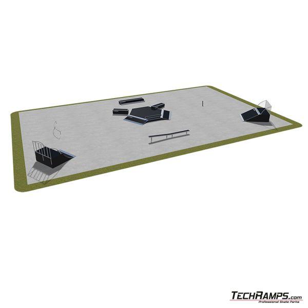 Przykładowy skatepark modułowy nr 480115