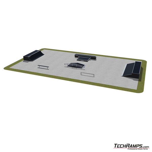 Przykładowy skatepark modułowy nr 490115