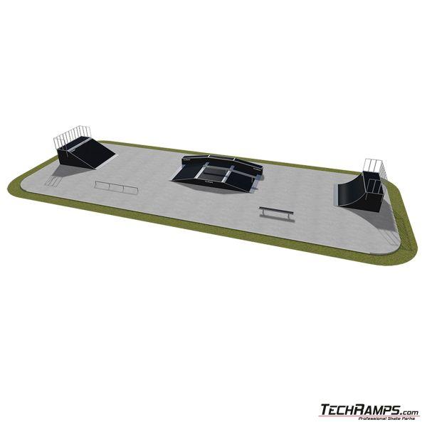 Przykładowy skatepark modułowy nr 500115