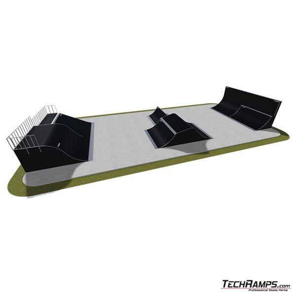 Przykładowy skatepark modułowy nr 510115