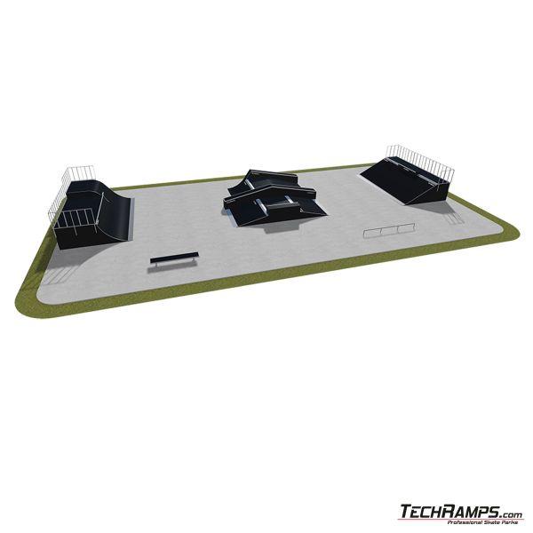 Przykładowy skatepark modułowy nr 520115