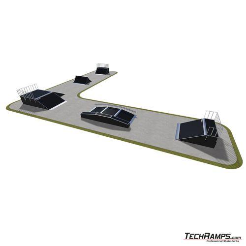 Przykładowy skatepark modułowy nr 530115