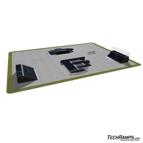 Przykładowy skatepark modułowy nr 540115