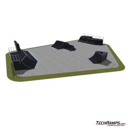 Przykładowy skatepark modułowy nr 550115