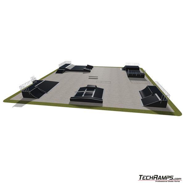Przykładowy skatepark modułowy nr 560115