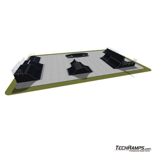 Przykładowy skatepark modułowy nr 570115