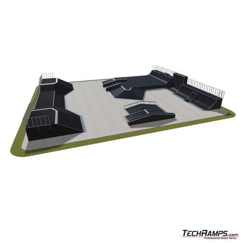Przykładowy skatepark modułowy nr 580115