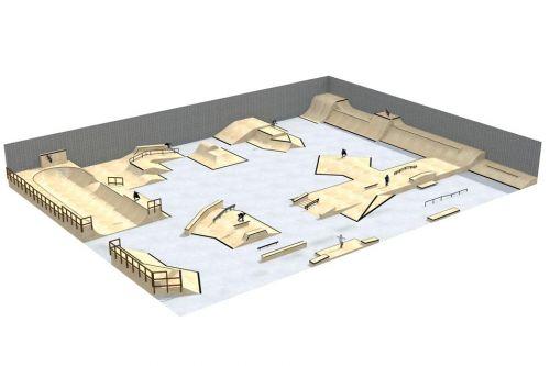 Przykładowy skatepark w hali - 310313