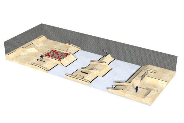 Przykładowy skatepark w hali - 660512
