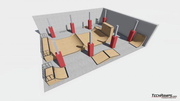 Przykładowy skatepark w hali nr 211018
