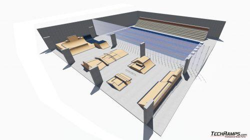 Przykładowy skatepark w hali nr 256321