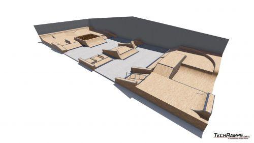 Przykładowy skatepark w hali nr 529700