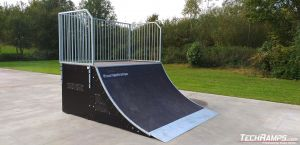 quarter pipe techramps
