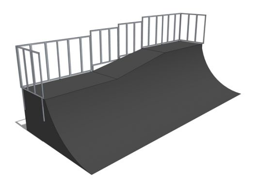 Quarter pipe two-level