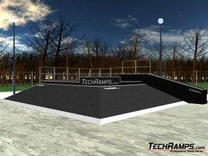 Real 3d skatepark wizual