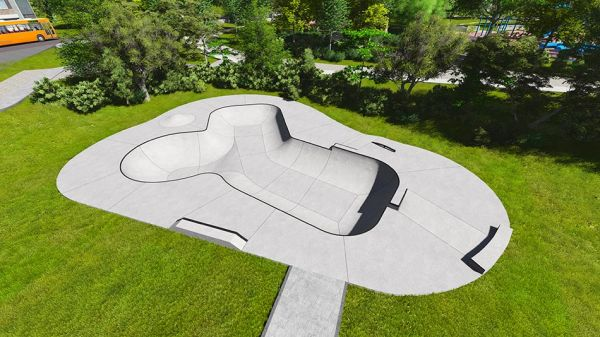 Sample concrete skatepark 390113