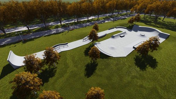 Sample concrete skatepark 652515