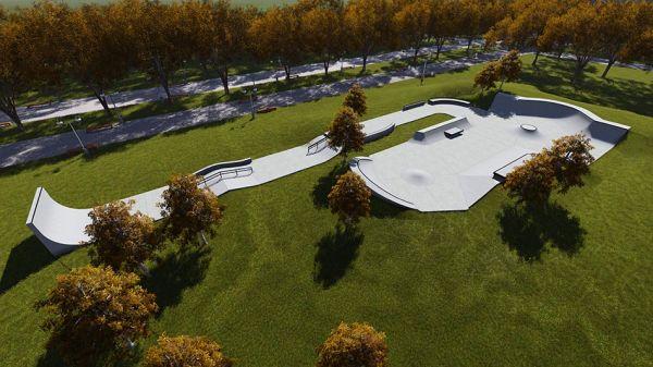 Sample concrete skatepark 652515