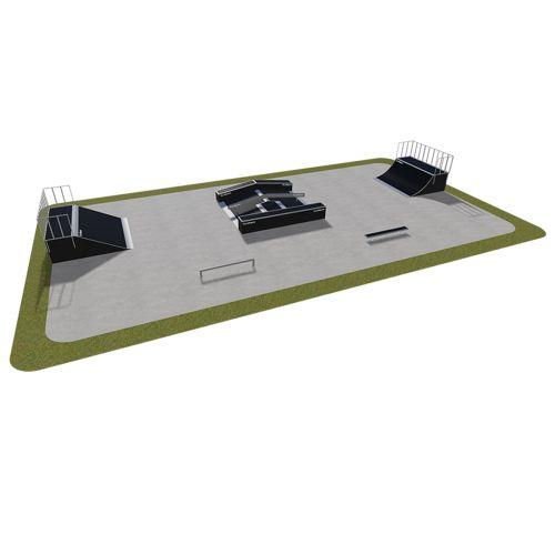 Sample modular skatepark 440115