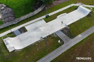 Skatepark aus Beton