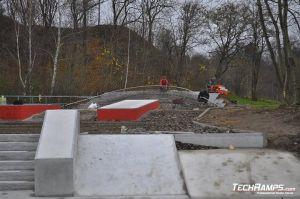 Skatepark Betonowy w Kielcach - wykonawca Techramps