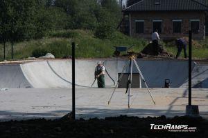 Skatepark betonowy w Radzionkowie - roboty budowlane