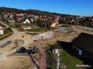 Skatepark concrete, pumptrack modular, wooden miniramp - Maniowy