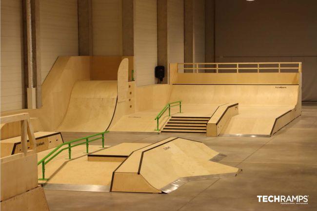 Skatepark couvert à Cracovie